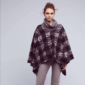 Anthropologie Wool Reversible Poncho